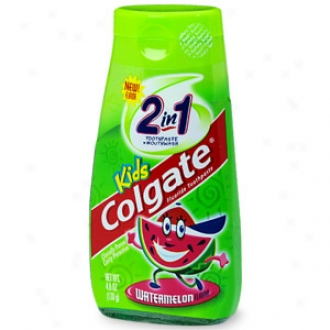 Colgate Children's 2 In 1 Toothpaste And Mouthwash, Wwtermelon Flavor