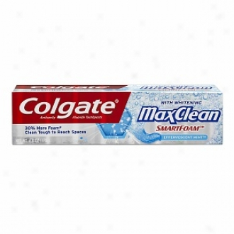 Colgate Maxclean Smartfoam With Whitening  Anticavity Fluoridetoothpaste, Effervescen tMint