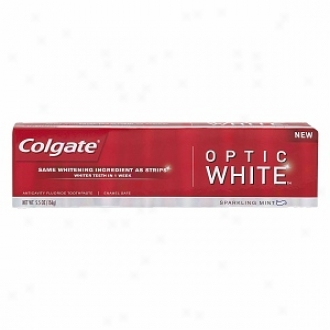 Colgate Optic White Anticavity Fluoride Toothpate, Sparkling Mint