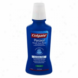 Colgate Peroxyl Mouth Sore Rinse, Antiseptic Oral Cleanser & Rinse, Mild Mint/alcohol Free