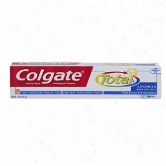 Colgate Total Anticavity Fluoride And Antigingivitis Toothpaste Gel, Advanced Whitening