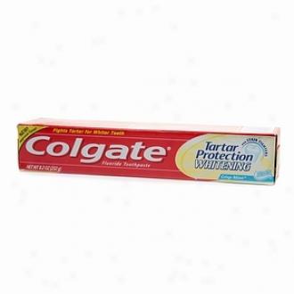 Colgat3 Whiening Tartar Hinder Plus Whitening Fluoride Toothpaste, Crisp Mint