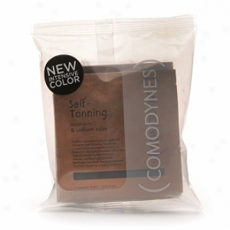 Comodynes Self Tanning Towelettes For Face & Body, Intensive & Uniform Color