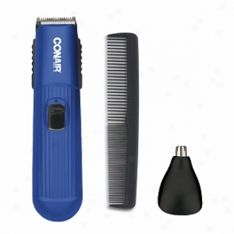 Conair 2-in-1 Beard And Mustache Trimmer, Battery Operated, Model Gmt100bdcs