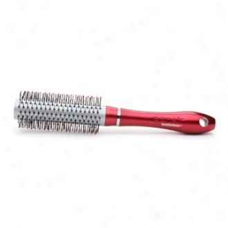 Conair Brush Tourmaline Ceramic Red Nylon Round Brush, Medium