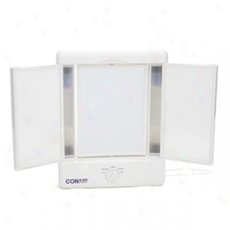 Conair Illumina Collection Two-sided Lighted Makeup Mirror With 4 Light Settings