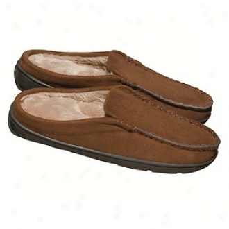 Conair Men's Massaging Slippers With Flexible Soles, Brown