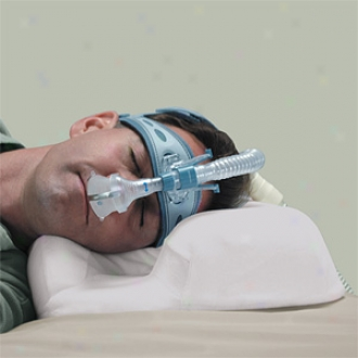 Contour Cpap Pillow With White Velour Shelter 14-101r-1-730