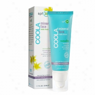 Coola Mineralface Matte Finish Suncare, Sf 30, Cucumber