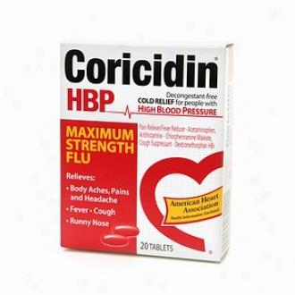 Coricidin Hbp Maxjmum Strenght Flu Tablets