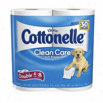 Cottonelle Clean Care With Sof Ripples Bath Tissue Double Rplls