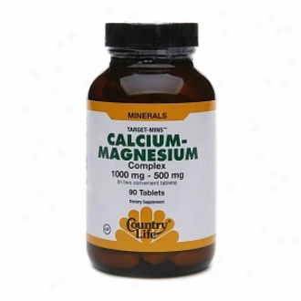 Country Life Calcium-magnesium Complex, 1000mg - 500mg, Tablets