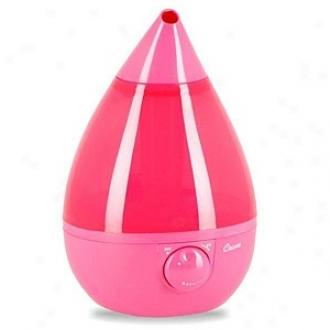 Crane Fashionable Drop, Ultrasonic Humidifier, 1 Gallon, Pink