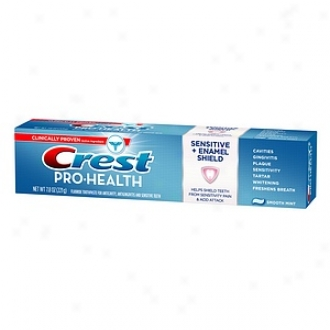 Crest Pro-health Sensitive + Enamel Defend Fluoried Anticavity  Toothpaste, Smooth Mint