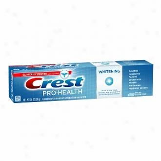Crest Pro-health Whitening Fluoride Anticavity Toothpaste, Fresh Clean Mint