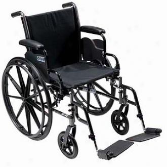 Cruiser Iii Light Weight Wheelchair, 20 Inch Detachable, Height Adjustable Desk Arms, Black