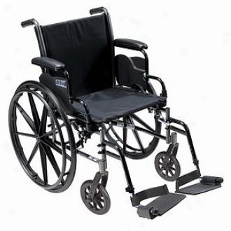 Cruiser Iii Light Weight Wheelchair, 20 Inch Flip Baxk Desk Arms, Black