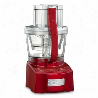 Cuisinart Fl-12mr Elite Collection 12-cup Food Processor, Metallic Red