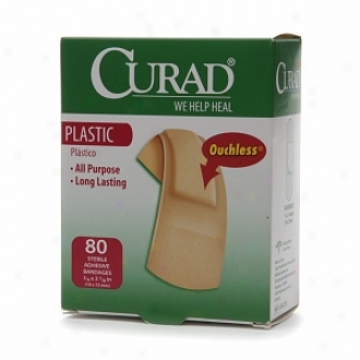 Curad Plastic Sterile Adhesive Bandages, 3/4 X 2 7/8 In