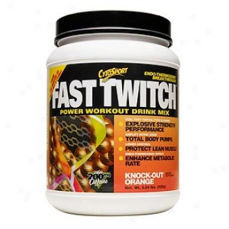 Cytosport Fast Twitch Power Workout Drink Mix, Knock-out Orange