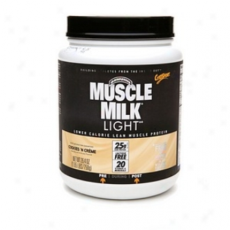 Cytosport Muscle Milk Light Protein Powder, Cookies & Cr??me