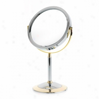 Danielle 2-tone Straight Stem Vanity Mirror With 7x Magnification