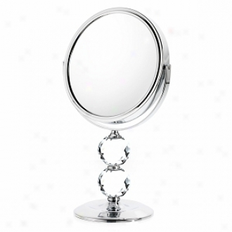 Danielle Double Crystal Ball Mirror Upon 10x Magnification