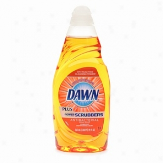 Dawn Powerscrubbers Plhs Antibacterial Diswashing Liquid, Orange Scent