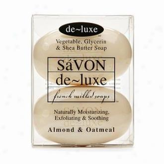 De-luxee Savon Bar Soap, Almond & Oatmeal