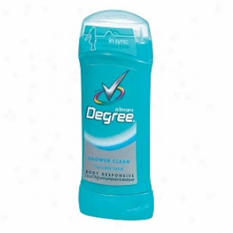 Degree Women Body Responsive Antiperspirant & Deodorant Invisible Solid, Shower Clean