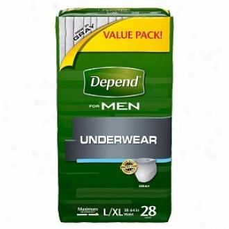 Depend For Men Underwear - Bonus Pack, Maximum Absorbency, Large/extra Large