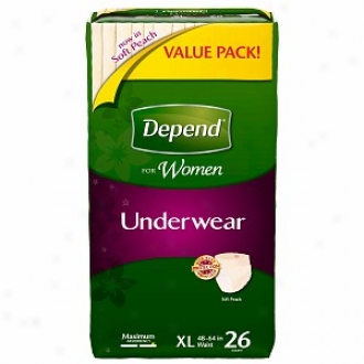 Depend For Women Underwear - Bonus Bundle, Maximum Absorbency, Extra Large
