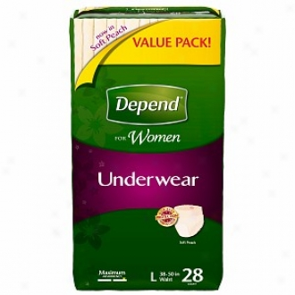 Depend For Women Underwear - Bonus Pack, Maximum Absorbency, Large