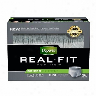 Depend Real Fit Underwear On account of Men Maximum Absorbency, S/m - 12 Pack