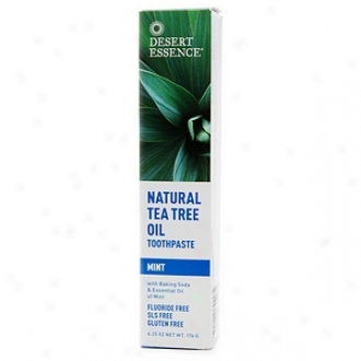 Desert Essence Natral Tea Tree Oil Toothpaste, Mint