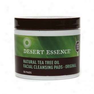Desert Essence Tea Tree Oil Facial Cleaansing Pads