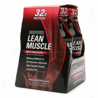 Detour Lean Muscle High Protein Shake, Milk Chocolate