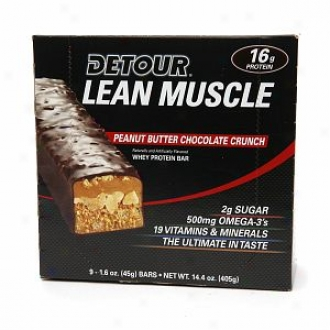Detour Lean Muscle Whey Protein Bar, Peanut Butter Chocolate Crunch