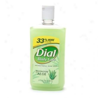 Dial Daily CareA ntibacterial Hand Soap Moisturizing With Aloe, Refill