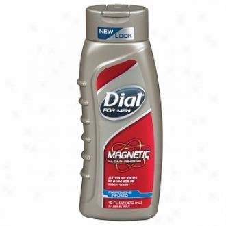 Dial For Men Magnetic, Attracting Enhancing-phermone Infused Body Wash, Unadulterated Rinsing