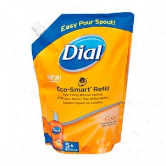 Dial Liquid Handful Soap Eco-smart Refill, 5+ Rsfills, Gold