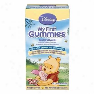 Disne yMy First Gunmies Children's Multivitamin, Winnie The Pooh