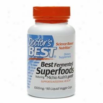 Doctor's Best Fermented Superfoods, 1000mg, Liquid Veggie Caps