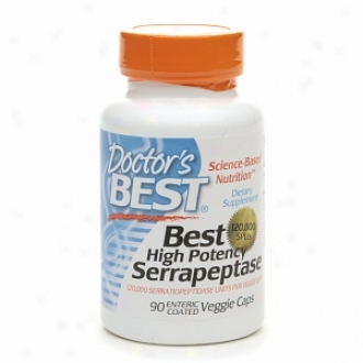 Doctor's Best High Potency Serrapeptase, Enteric Coatd Veggie Caps