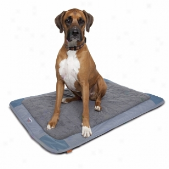 Dog About Crate Size Deluxe Travel Mat For Dogs Up To 70 Pounds, Steel, Slate And Ingot