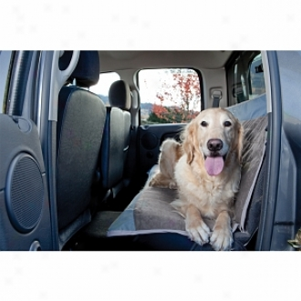 Dog About Quick-fit Bench Seat Cover For Full-size Bench Seats, Steel, Slate And Ingot