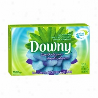 Downy Simple Pleasures Fabric Softener Dryer Sbeets, Sage Jasmlne Thrill