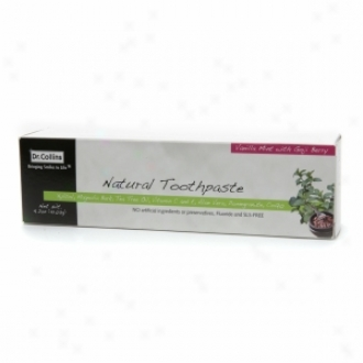 Dr. Collibs Natural Toothpaste, Vanilla Mint With Goji Berry