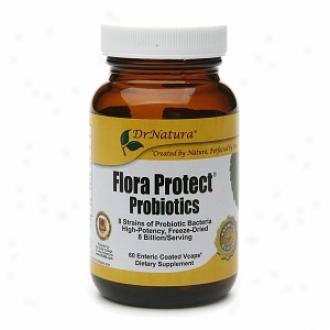 Dr. Natura Flora Protect Probiotics, Enteric Coated Vcaps