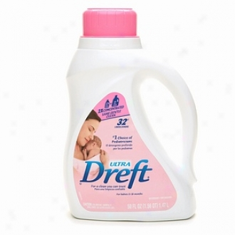 Dreft Ultra Laundry Detergent 2x Concentrated, For Babies 0-18 Months, 32 Loads